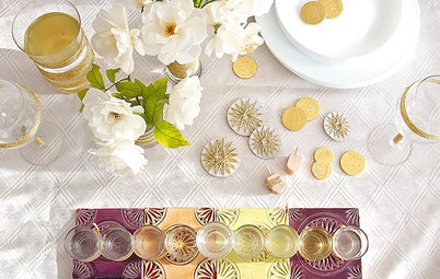 DIY: Shiny Gold Accents to Make Your Hanukkah Table Glow