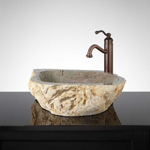 BLANCA NATURAL STONE VESSEL SINK   Bathroom Sinks