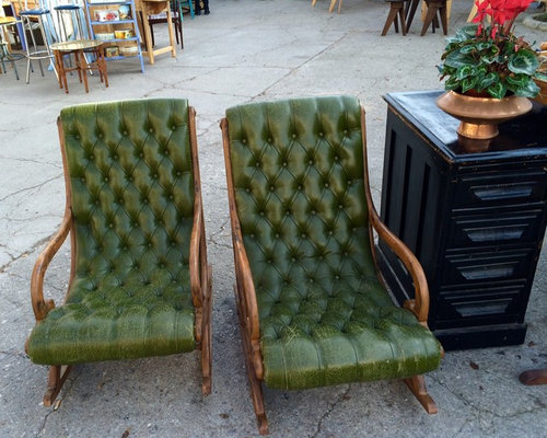Refinish And Restore A Pair Of Vintage Leather Rocking Chairs   Products