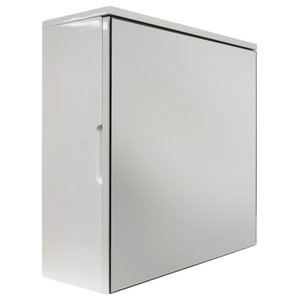 Cube High Gloss Square Mirror Bathroom Wall Cabinet, White