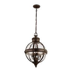 Adams Pendant Chandelier, Bronze, 3 Lights
