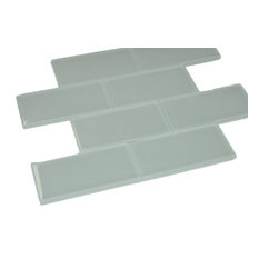 "3""x6"" Haven Subway Tiles, Set of 8, Mist Mint"