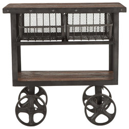 Industrial Bar Carts by World Interiors
