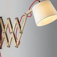 Hakan Scissors Hand Extendable Lamp Swing Arm Reading Lights