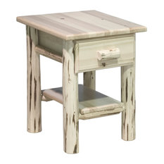 montana woodworks montana collection nightstand withdrawer and shelf clear lacquer finish