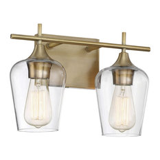 Savoy House Octave 2-Light Bathroom Vanity Light in Warm Brass