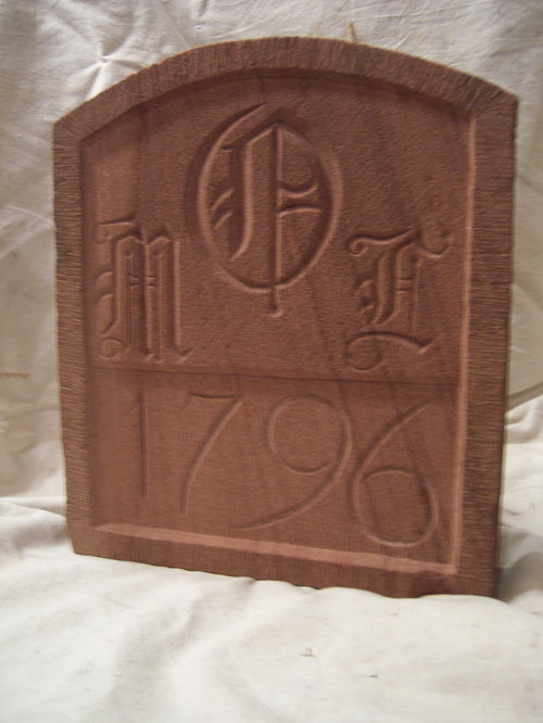 Stone date stones ornamental carvings mile markers