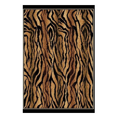 "Floral Brown Rug, 5' 3""x7' 2"", Legends 910-05750"