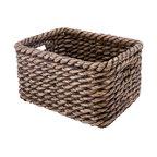 Rectangular Storage Basket in Lampakanay, Brown Wash