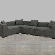 Silver Coast Company - Modular Gray Fabric Sectional - Sectional Sofas : modular sofa sectionals - Sectionals, Sofas & Couches