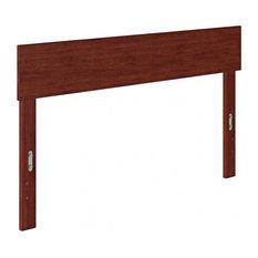 Atlantic Furniture Boston Solid Wood Full Headboard In Walnut
