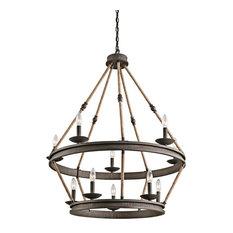 Kearn Chandelier 10-Light, Olde Bronze
