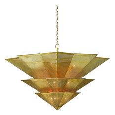Hanway Chandelier, Antique Gold Leaf