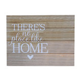 """Wooden Wall Plaque """"There's No Place Like Home"""""""
