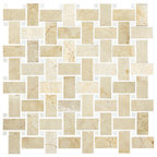 1 Quot X2 Quot Calacatta Gold Marble Basketweave Mosiac Tile With