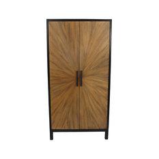 Wood Sunburst Cabinet