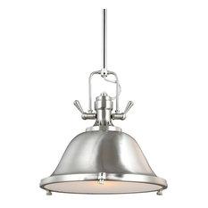 Sea Gull Lighting 1-Light Pendant, Brushed Nickel