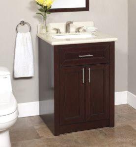 Marvelous Art Brightong 26 Inch Bathroom Vanity With Backsplash   Bathroom Vanities  And Sink Consoles