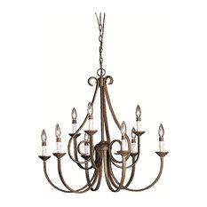 Chandelier 9-Light, Tannery Bronze