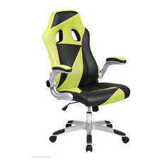 Green and Black Triangles Racing Office Chair
