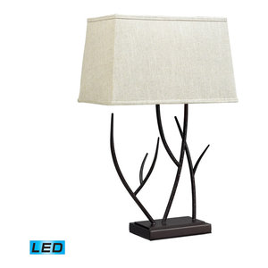 1 Light Buthan Bronze Table Lamp Traditional Table
