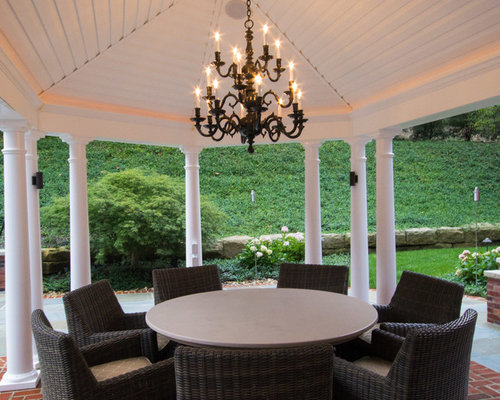 Modern Gazebo With Chandelier
