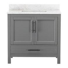 """Kendall Gray Bathroom Vanity, 36"""""""