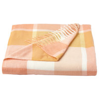 Lavish Home Faux Cashmere Acrylic Throw Blanket,, Desert Blush