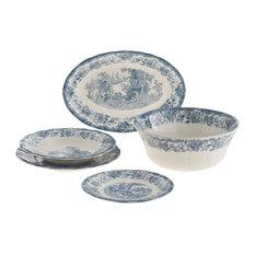 La Cartuja de Sevilla - Fine China Ceylon 20-Piece Dinnerware Set - Dinnerware Sets  sc 1 st  Houzz & 50 Most Popular Traditional Toile Dinnerware Sets for 2018 | Houzz