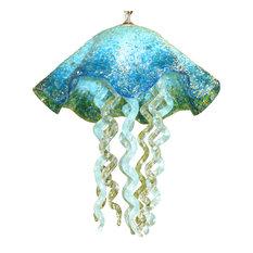 Blown Glass Chandelier - Art Glass Chandelier - Lighting - Jellyfish Pendant