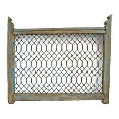 Consigned Iron & Wood Screen Railing