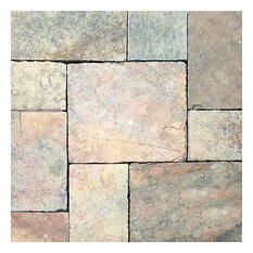 """French Vanilla Hand Cut Hardscaping Pavers, Limestone, 24""""x24"""", 10 Pieces"""