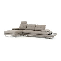 Modern Gray Fabric Sectional Sofa
