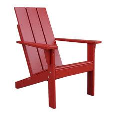 Porchgate   Porchgate Amish Made Heavy Duty Modern Adirondack Chair, Fire  Engine Red   Adirondack