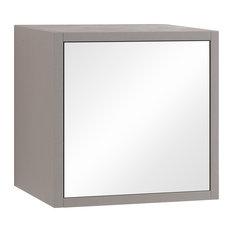 Marte Mirrored Wall Cabinet, Havana Stone