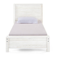 Panel Twin Bed, Rustic White
