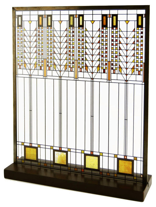 Frank Lloyd Wright Arts Crafts Prairie Stained Glass
