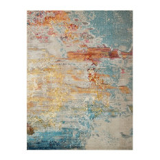 Nourison Celestial Contemporary Area Rug, Sunset, 9'x12'