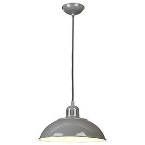 Spun Shade Ceiling Pendant, Grey