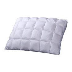 Pleated Goose Down Pillow, Firm Neck Support, King