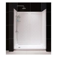 DreamLine DL-6189L-01 QWALL-5 Shower Base & Backwalls