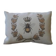 """Queen Bee Burlap Pillow, 12""""x16"""""""