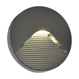 LED Round Surface Brick Wall Light, Anthracite