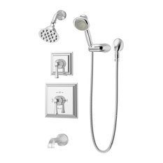 Canterbury 2-Handle Tub and Shower Faucet Trim With Hand Shower, Polished Chrome