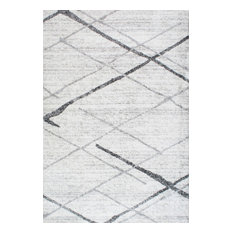 nuLOOM Thigpen Striped Contemporary Area Rug, Gray, 12'x15'
