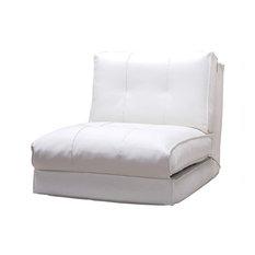 Abbyson Living Freddy Single Sleeper Chair, White