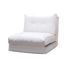 Abbyson Living   Freddy Single Sleeper Chair, White   Sleeper Chairs