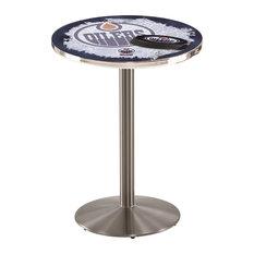Edmonton Oilers Pub Table 36-inchx36-inch