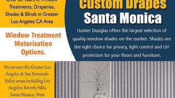 Custom drapes Santa Monica | 3106598183 | fandrinteriors.com
