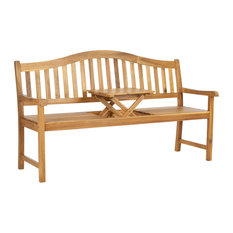 Safavieh Griffin Outdoor Bench, Natural Brown, Large